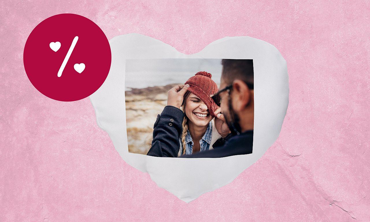 Foto-Kissen Valentinstag